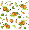 vegetables food pattern vector image