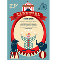 Vintage carnival or circus invitation vector image vector image