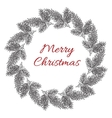 Vintage engraving Christmas wreath vector image