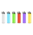 Lighters set vector image