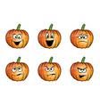pumpkin faces cartoon vector image