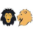 Cartoon lion heads vector image
