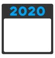 2020 Plan Icon vector image vector image