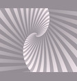 abstract retro spiral background wallpaper vector image vector image