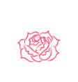 abstract rose flower logo designs inspiration vector image vector image