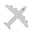 airplane transport flying travel vector image