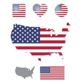American flag and icons vector image