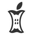 apple stump flat icon vector image