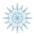 Beautiful snowflake vector image vector image