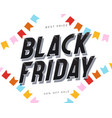 black friday banner template modern style vector image