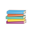 books hard cover collection vector image vector image