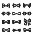 bow tie icon set male fashion accessory vector image