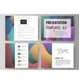 Business templates for presentation slides Easy vector image vector image