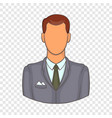 businessman icon in cartoon style vector image vector image