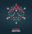 Christmas card graphic vector image vector image