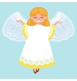 christmas holiday flying happy angel with wings vector image vector image