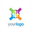circle colored diversity logo vector image
