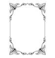 classic vintage baroque ornament vector image vector image