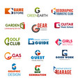 club agency and industry identity g icons vector image vector image