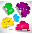 Colorful stickers and bubbles for speech vector image vector image