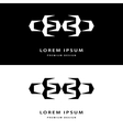 Creative icon monogram design elements with vector image