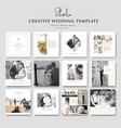 creative wedding social media template vector image