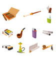 design tobacco and habit icon vector image vector image