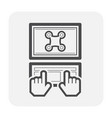 drone equipment icon vector image