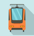 electric train icon flat style vector image