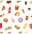 fast food nutrition american hamburger vector image