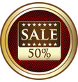 fifty percent sale icon vector image vector image