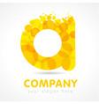 gold a company logo concept vector image vector image
