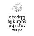 hand made font alphabet vector image