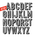 handmade retro font black letters on white vector image vector image