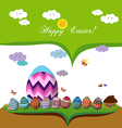 happy easter spring season background with eggs vector image vector image