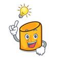 have an idea rigatoni mascot cartoon style vector image vector image