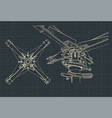 helicopter rotor drawings vector image