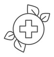 herbal medicine thin line icon natural medicine vector image