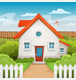 house inside garden vector image