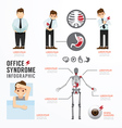 Infographic office syndrome Template Design vector image vector image