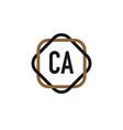 initial letter ca elegance logo design template vector image vector image
