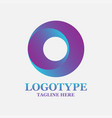 isolated colorful circular shape logo vector image vector image