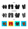 isolated object of glove and winter icon vector image