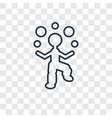 juggler man concept linear icon isolated on vector image vector image