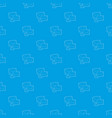 letter pattern seamless blue vector image
