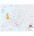 location united kingdom map vector image