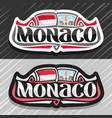 logo for monaco vector image