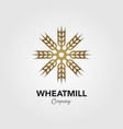 logo grain mill forming a windmill vector image