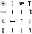 lumberjack icon set vector image