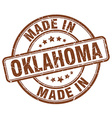 made in Oklahoma vector image vector image